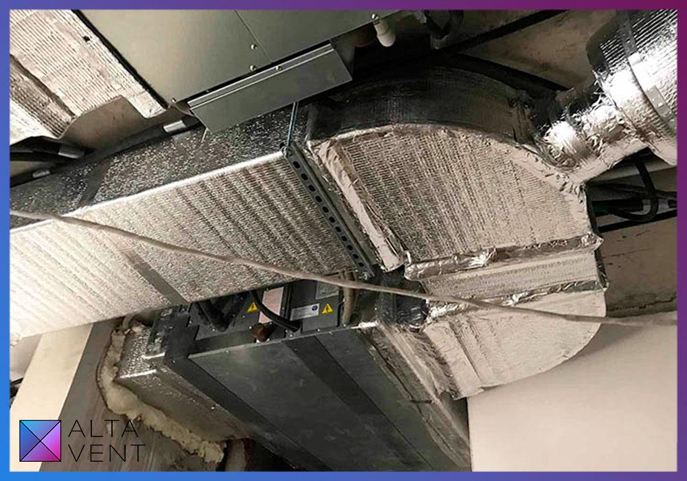 Система вентиляции и кондиционеры Mitsubishi electric в двухуровневой квартире