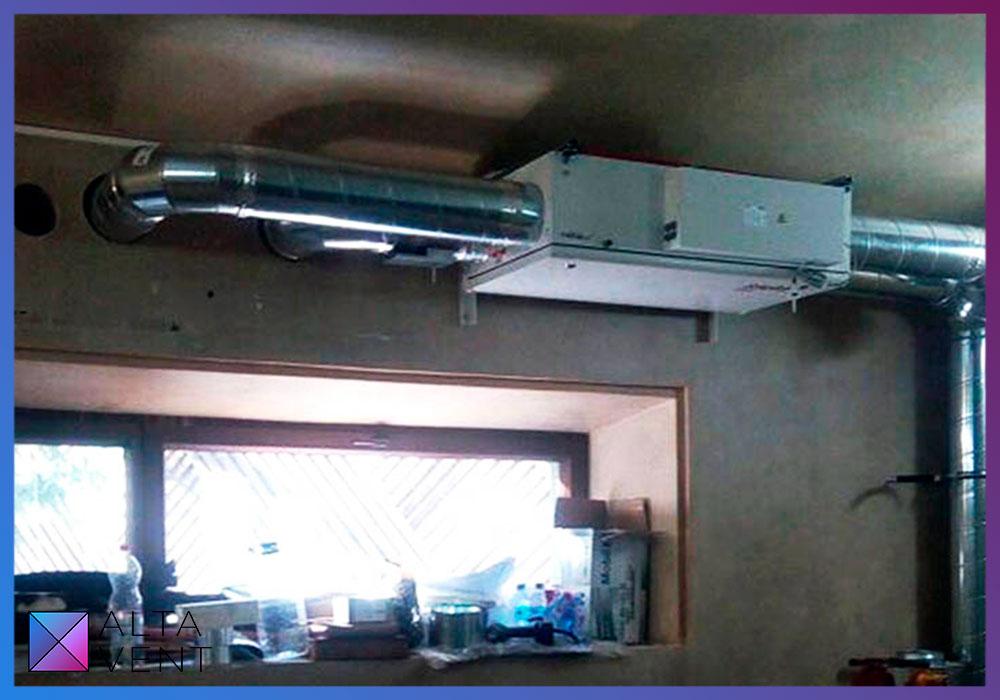 Установка для вентиляции в гараже в коттедже